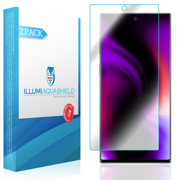 Samsung Galaxy Note 10 [6.3 inch Display] [2-Pack] ILLUMI AquaShield [Case Friendly] Screen Protector