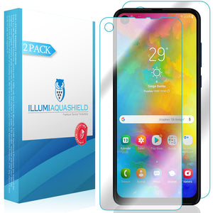 Motorola One Action [2-Pack] ILLUMI AquaShield Front + Back Protector