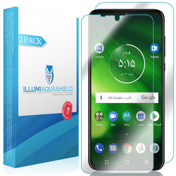 Motorola One Zoom [2-Pack] ILLUMI AquaShield Front + Back Protector