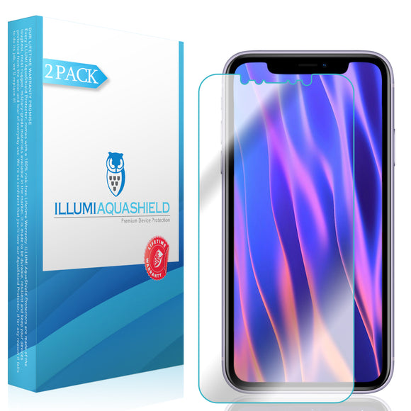 Apple iPhone 11 [6.1 inch] [2-Pack] ILLUMI AquaShield [Case Friendly] Screen Protector