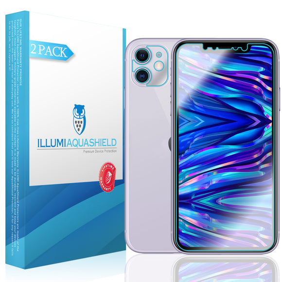 Apple iPhone 11 [6.1 inch] [2-Pack] ILLUMI AquaShield [Case Friendly + Camera Lens] Screen Protector