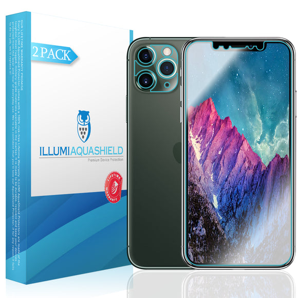 Apple iPhone 11 Pro [5.8 inch] [2-Pack] ILLUMI AquaShield [Case Friendly + Camera Lens] Screen Protector