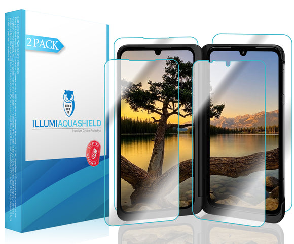LG G8X ThinQ [2-Pack] ILLUMI AquaShield Front + Back Protector