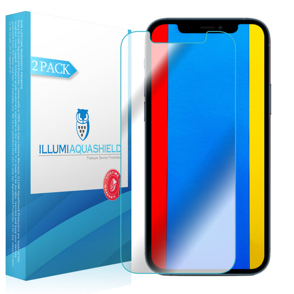 Apple iPhone 12 Pro Max [6.7 inch] [2-Pack] ILLUMI AquaShield [Case Friendly] Screen Protector