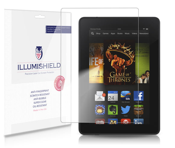 iLLumiShield - Amazon Kindle Fire HD 7 (2nd Generation) (2013) Ultra Clear HD Film with Anti-Bubble and Anti-Fingerprint – Invisible LCD Shield – Lifetime Replacement – Tablet Screen Protector