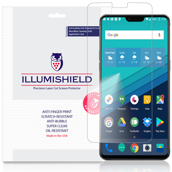 OnePlus 6 ILLUMISHIELD Screen Protector [3-Pack]