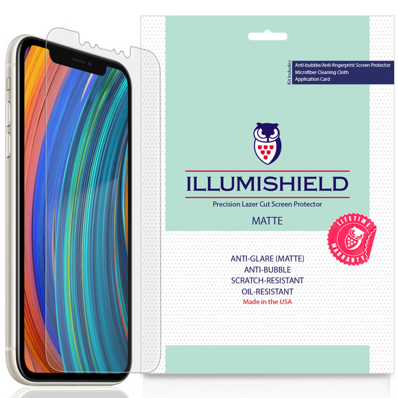 Apple iPhone 11 [6.1 inch] [3-Pack] iLLumiShield Matte Anti-Glare Screen Protector