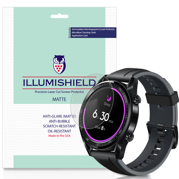 Huawei Watch GT iLLumiShield Matte Anti-Glare Screen Protector [3-Pack]