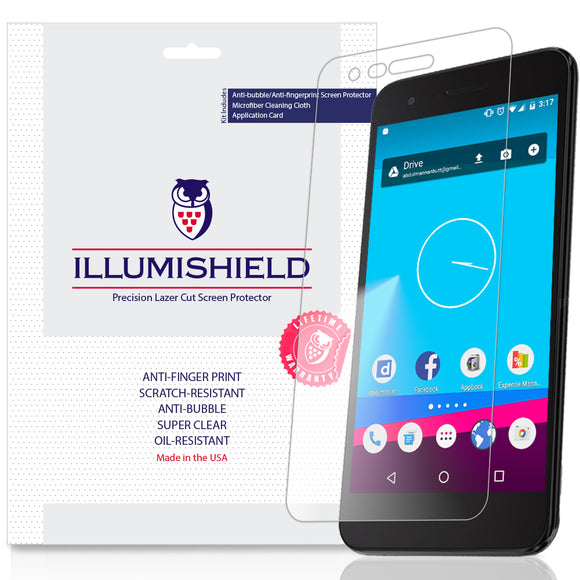 LG Aristo 2 Plus [3-Pack] iLLumiShield Clear Screen Protector