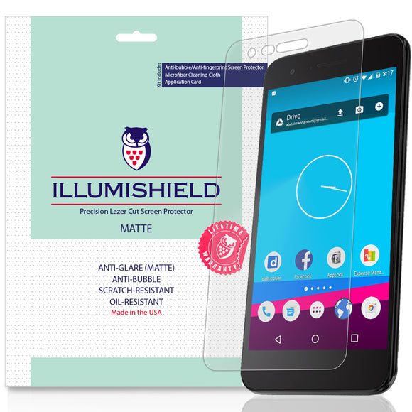 LG Aristo 2 Plus [3-Pack] iLLumiShield Matte Anti-Glare Screen Protector