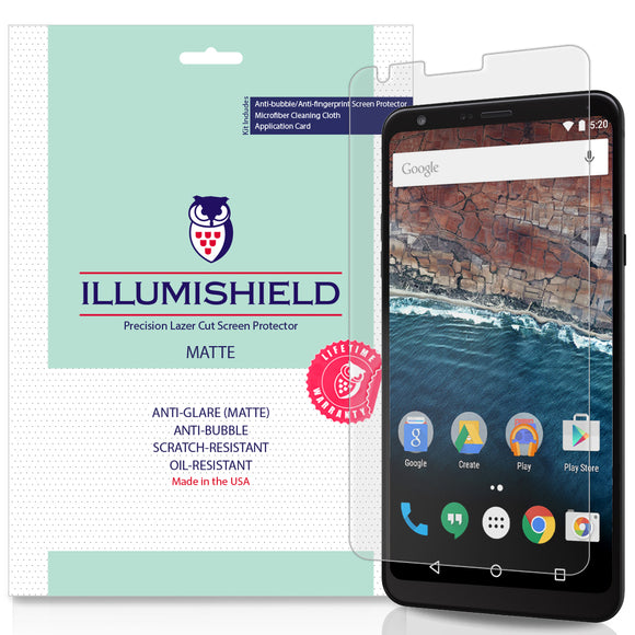 LG Stylo 4 [3-Pack] iLLumiShield Matte Anti-Glare Screen Protector (LG Q Stylus)