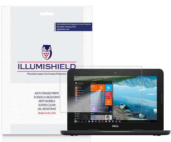 Dell Inspiron Chromebook 11 iLLumiShield Clear Screen Protector [2-Pack]
