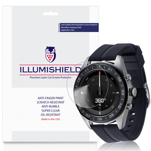 LG Watch W7 iLLumiShield Clear Screen Protector [3-Pack]