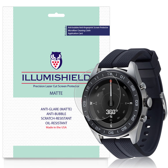 LG Watch W7 iLLumiShield Matte Anti-Glare Screen Protector [3-Pack]