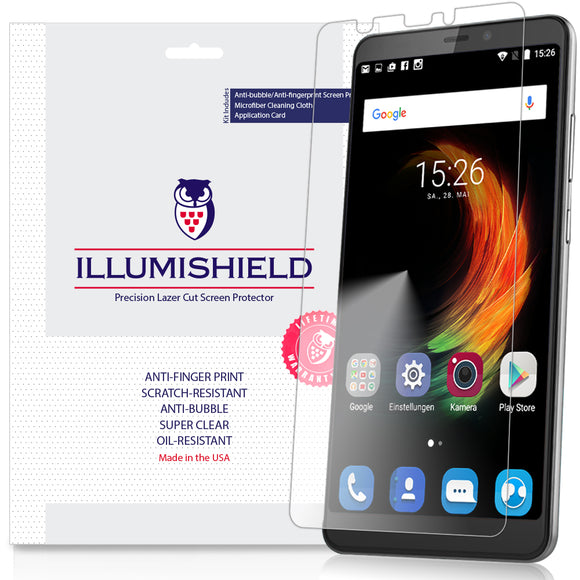 ZTE Blade Max 2s [3-Pack] iLLumiShield Clear Screen Protector