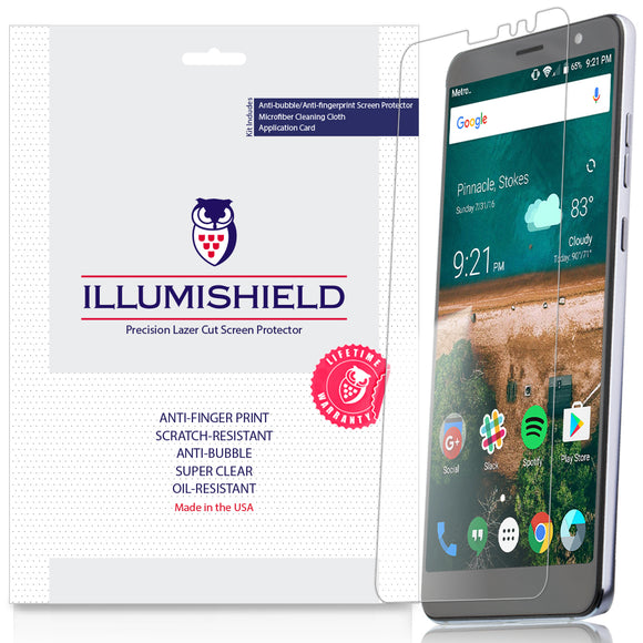ZTE Blade Max View [3-Pack] iLLumiShield Clear Screen Protector