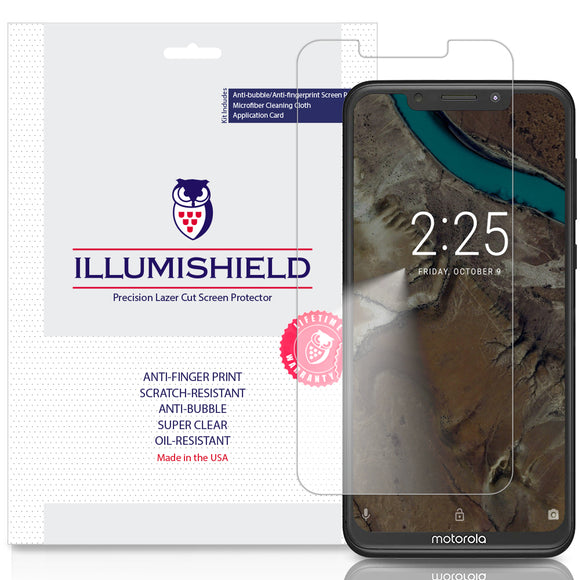 Motorola One [3-Pack] iLLumiShield Clear Screen Protector