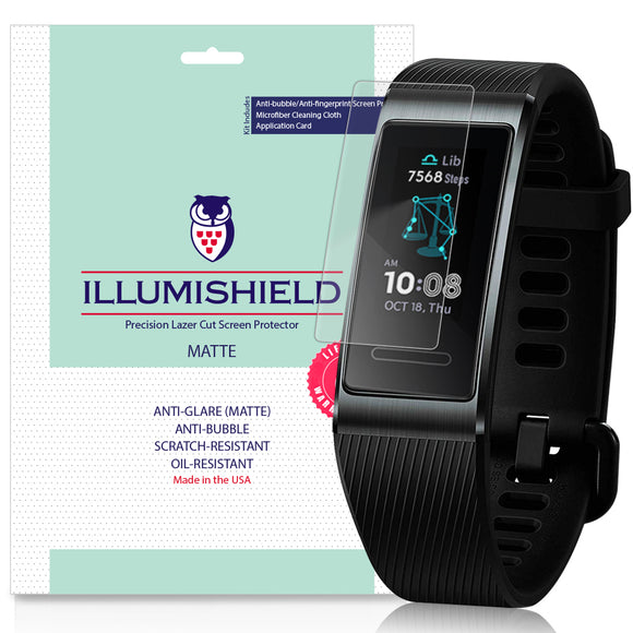 Huawei Band 3 Pro iLLumiShield Matte Anti-Glare Screen Protector [3-Pack]