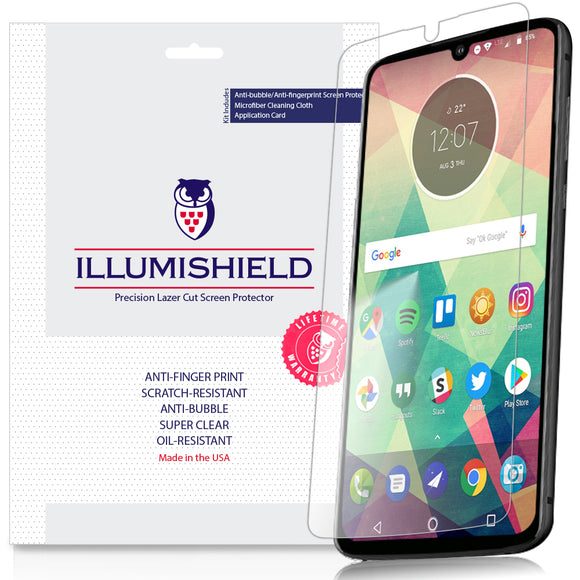 Motorola Moto Z4 [3-Pack] iLLumiShield Clear Screen Protector