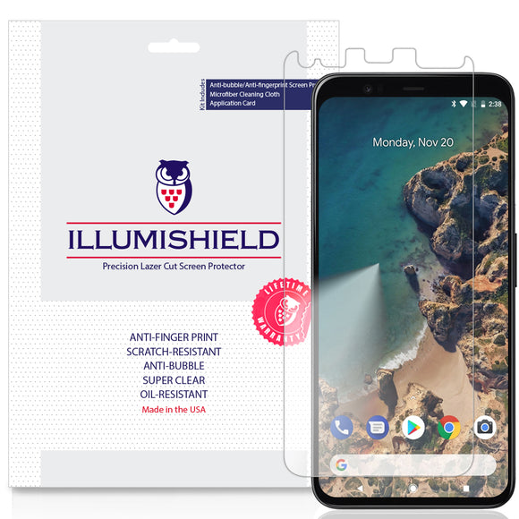 Google Pixel 4 [3-Pack](Full Edge Coverage) iLLumiShield Clear Screen Protector