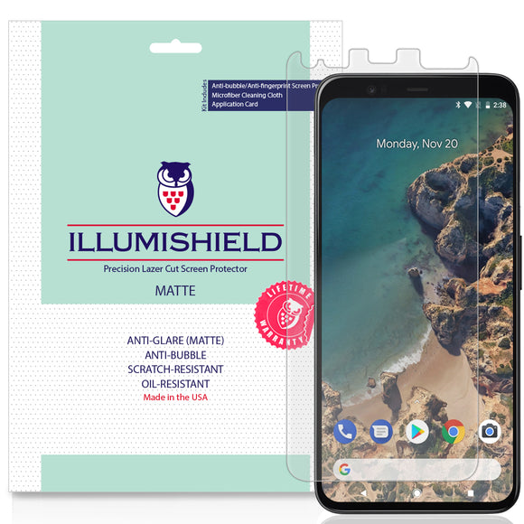 Google Pixel 4 [3-Pack](Full Edge Coverage) iLLumiShield Matte Anti-Glare Screen Protector