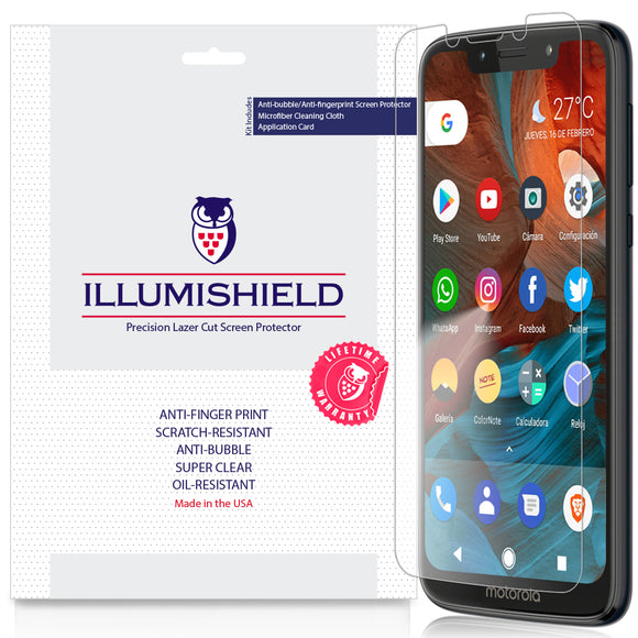 Motorola Moto G7 Play [3-Pack] iLLumiShield Clear Screen Protector