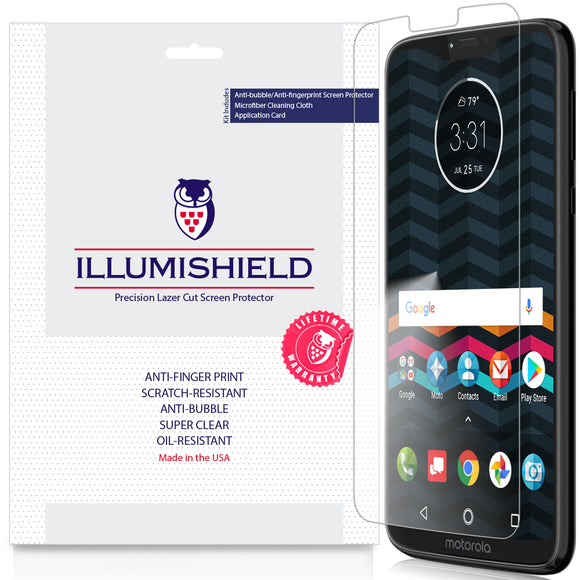 Motorola Moto G7 Power [3-Pack] iLLumiShield Clear Screen Protector