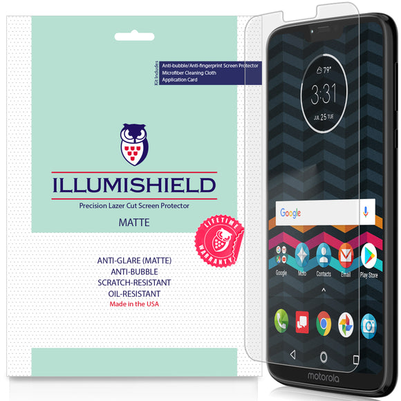 Motorola Moto G7 Power [3-Pack] iLLumiShield Matte Anti-Glare Screen Protector