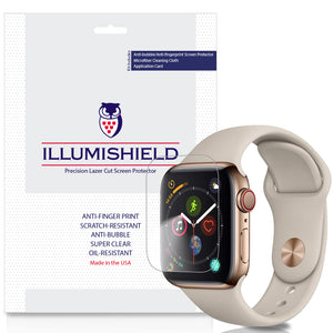 Apple Watch Series 5 [44mm] [3-Pack] iLLumiShield Clear Screen Protector