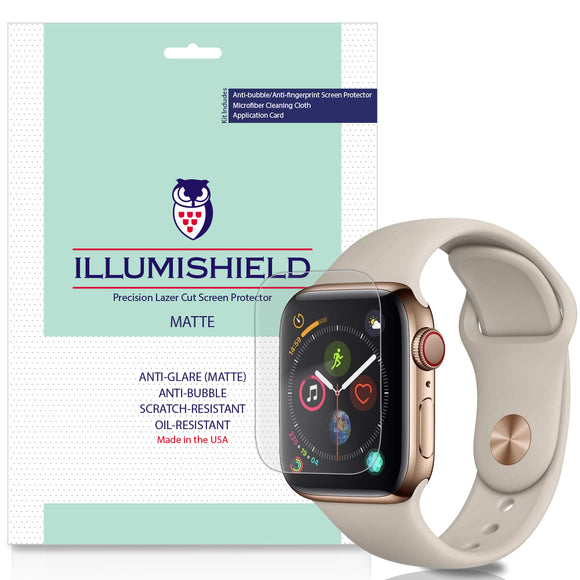 Apple Watch Series 5 [44mm] [3-Pack] iLLumiShield Matte Anti-Glare Screen Protector