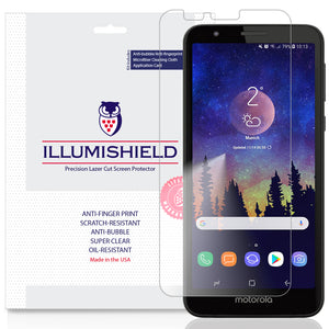 Motorola Moto E6 [3-Pack] iLLumiShield Clear Screen Protector
