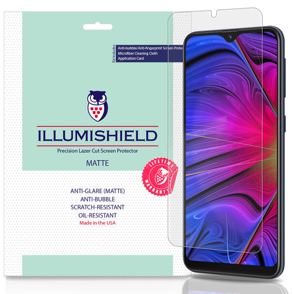 Samsung Galaxy A10e [3-Pack] iLLumiShield Matte Anti-Glare Screen Protector