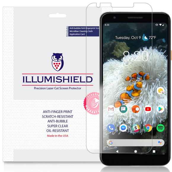 Google Pixel 3a [3-Pack](Case Friendly)  iLLumiShield Clear Screen Protector