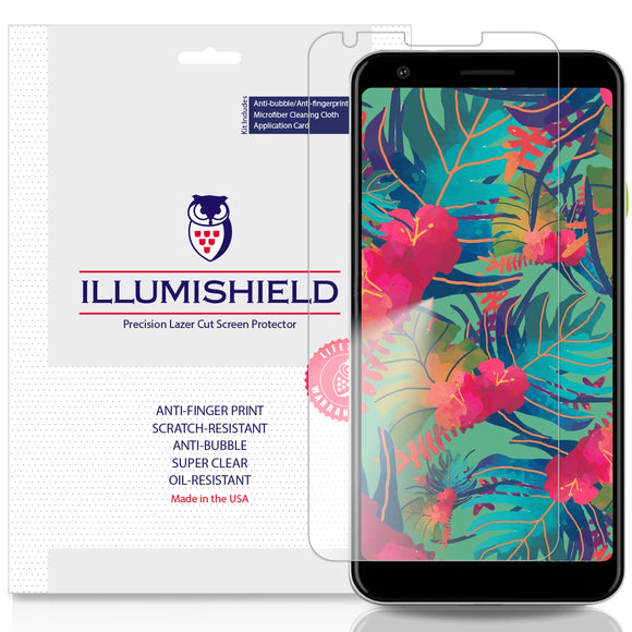 Google Pixel 3a XL [3-Pack][Compatible w/ Cases] iLLumiShield Clear Screen Protector