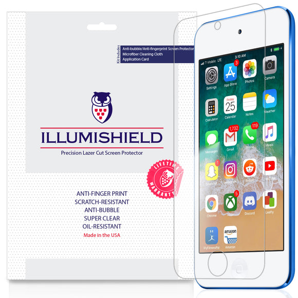 Apple iPod Touch 7th Gen, 2019 iLLumiShield Clear screen protector