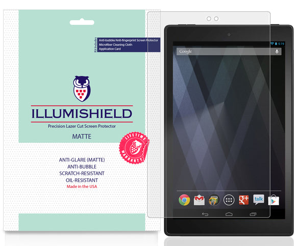 Amazon Fire HD 10 [2019, 9th Generation] [2-Pack] iLLumiShield Matte Anti-Glare Screen Protector