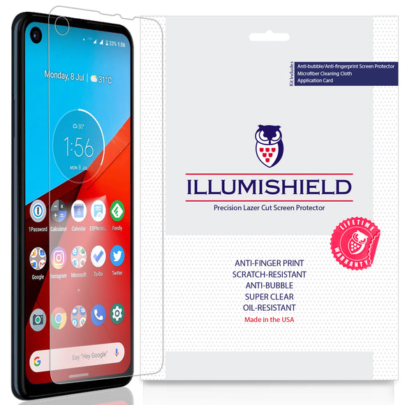 Motorola One Action [3-Pack] iLLumiShield Clear Screen Protector