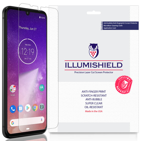 Motorola One Zoom [3-Pack] iLLumiShield Clear Screen Protector