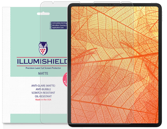 Apple iPad Pro 12.9 [2020] [2-Pack] iLLumiShield Matte Anti-Glare Screen Protector