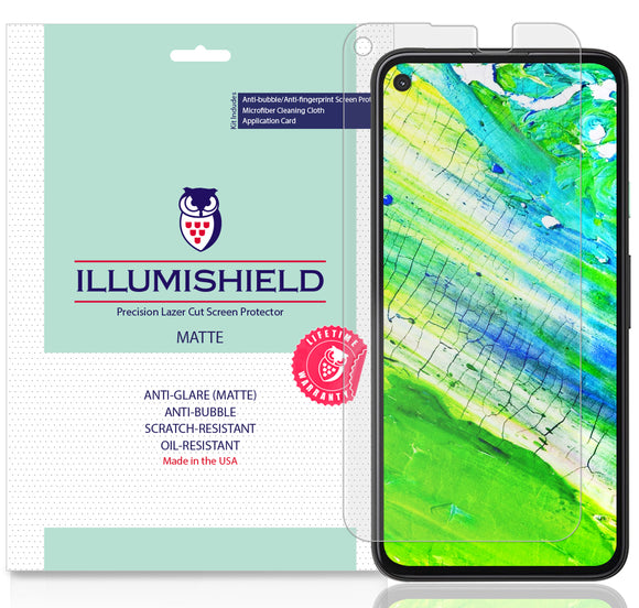 Google Pixel 4a [5.81-inch] [3-Pack] iLLumiShield Matte Anti-Glare Screen Protector