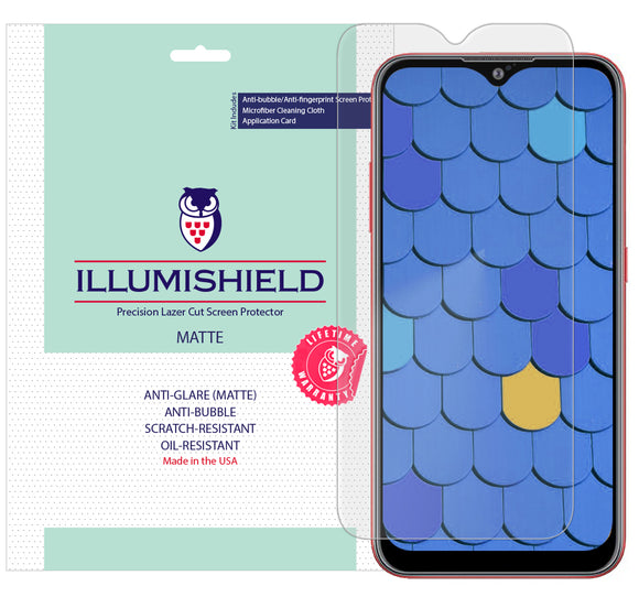 Samsung Galaxy A01 [2020] [3-Pack] iLLumiShield Matte Anti-Glare Screen Protector