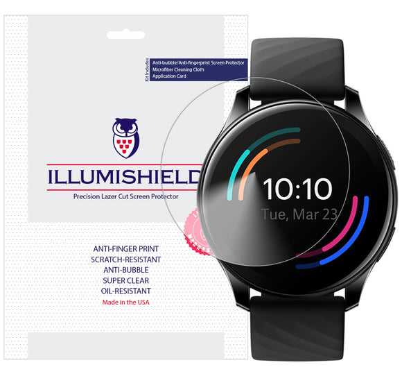 Oneplus Watch [3-Pack] iLLumiShield Clear Screen Protector