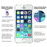 Apple iPhone 5 (5th Gen) ILLUMISHIELD Anti-Glare Matte Screen Protector [3-Pack]