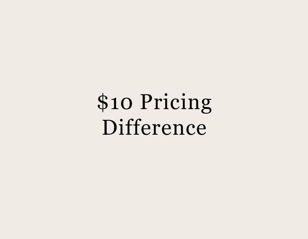 $10 Pricing Difference