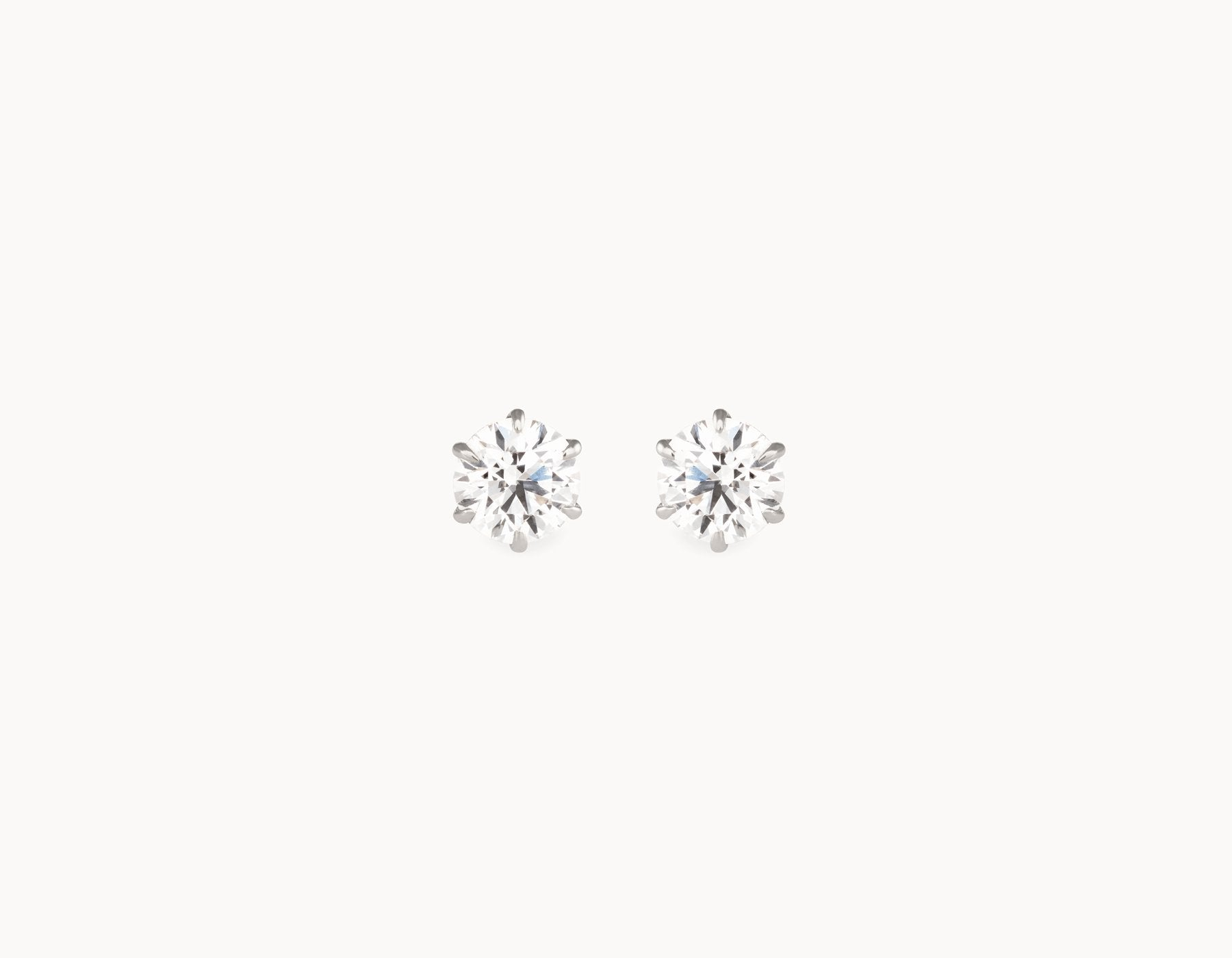 Classic Minimal 18k White Gold 1/2ct Round Brilliant Diamond Studs