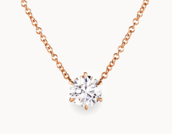 1/2ct Round-Brilliant Diamond Necklace