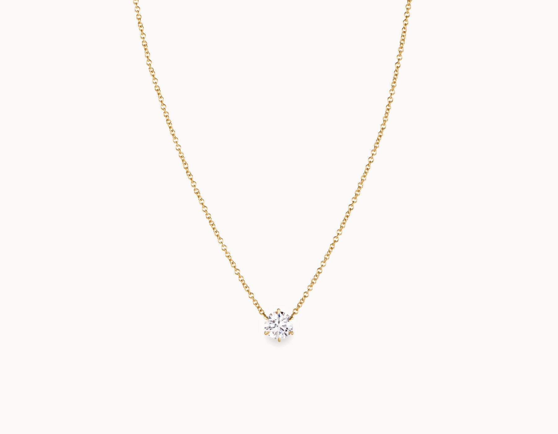 with product gold and cut set brilliant of total in karat diamond bezel weight necklace center solitaire carat halo round diamonds white tcw