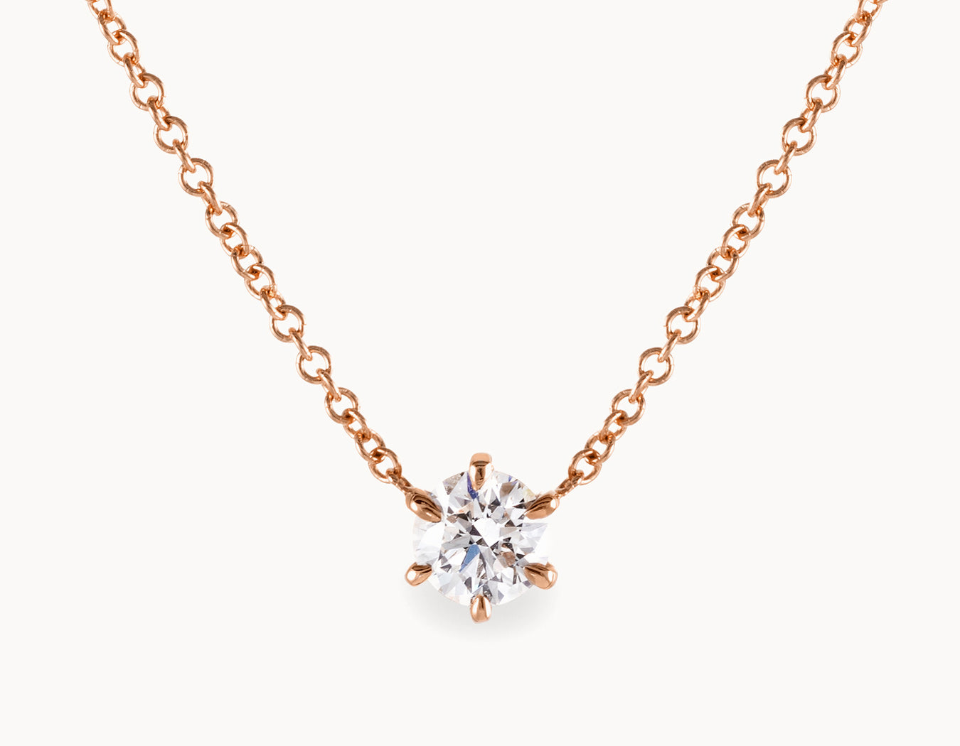 vo necklace b n zoom diamond oro wg solitaire brilliant vrai products round