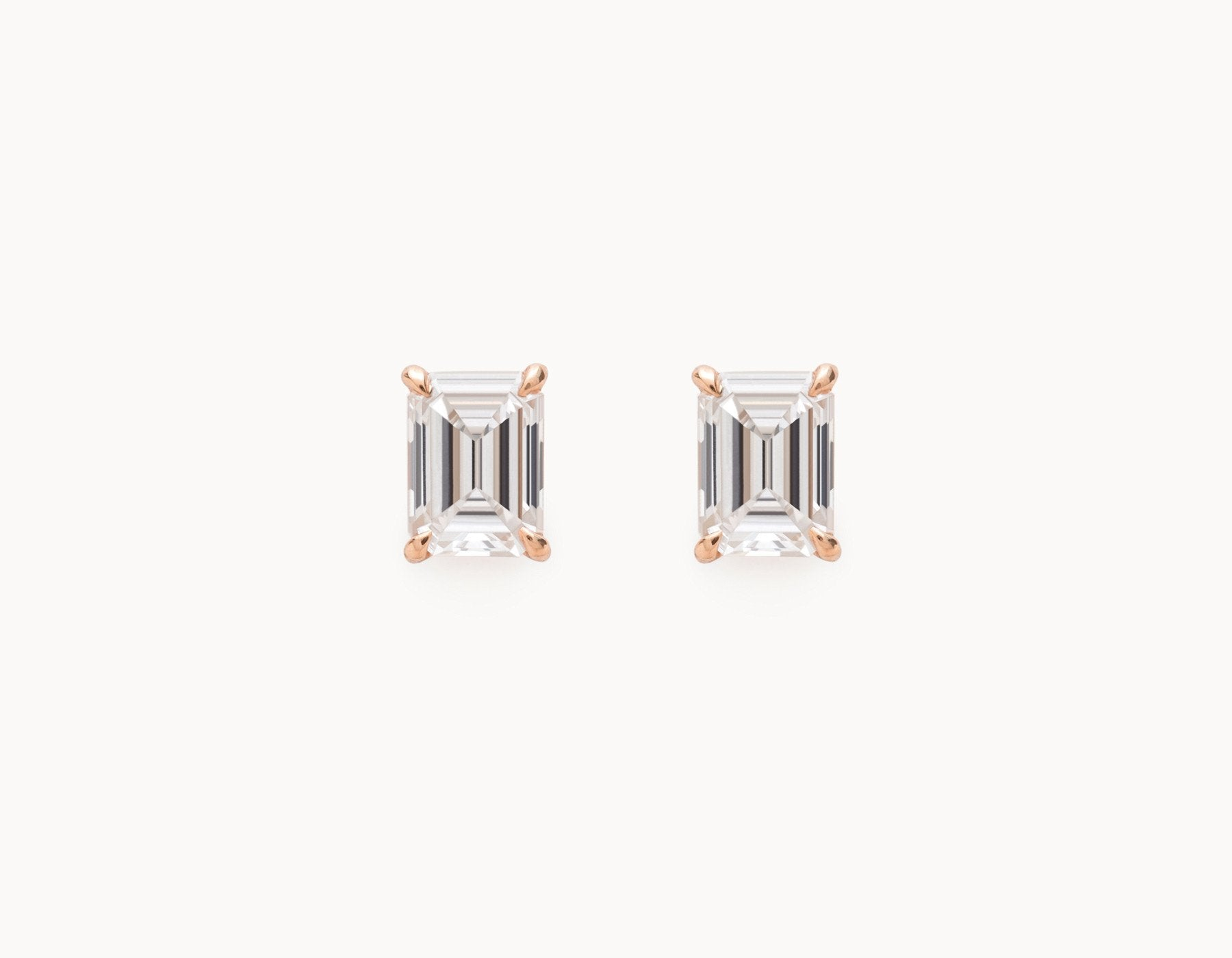 Vrai & Oro Black Label Emerald Studs