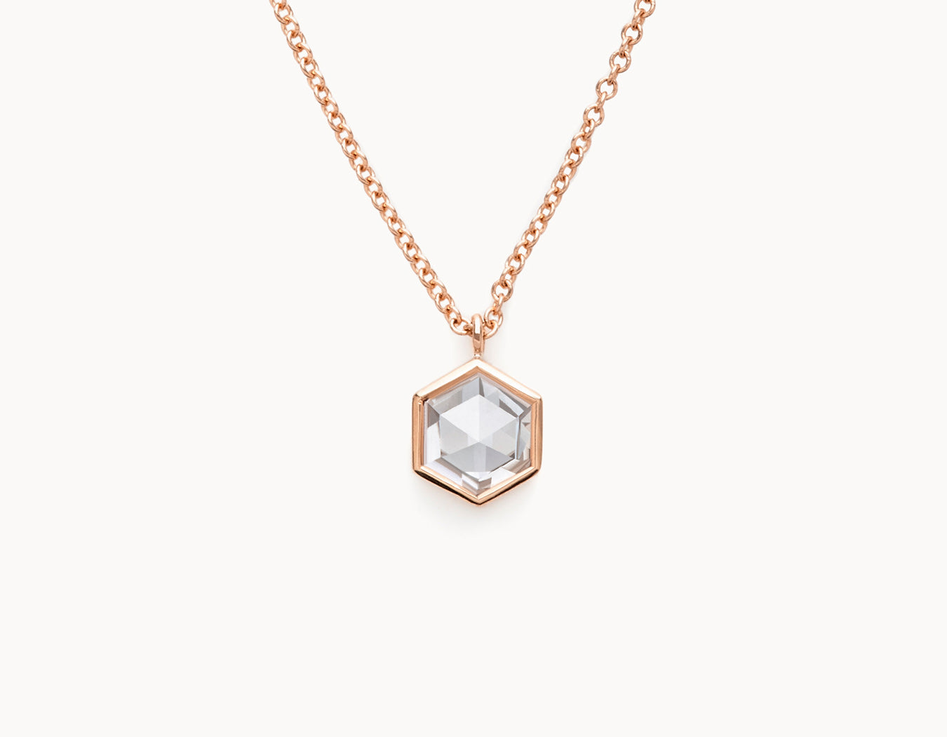 The Rose-Cut Hex Necklace